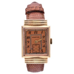 Crawford 14 Karat Yellow Gold Vintage Ladies Watch