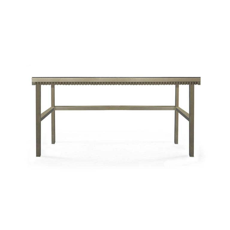 Mexican Crawford Desk in Gilded Champagne Leaf by Badgley Mischka Home For Sale