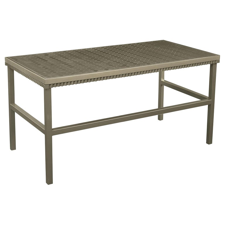 Crawford Desk in Gilded Champagne Leaf by Badgley Mischka Home For Sale