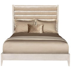 Crawford King-Size-Bett in Lackiertem Rosé von Badgley Mischka Home