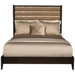 Crawford King-Size-Bett in Lackiertem Kaffee von Badgley Mischka Home