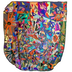 Crazy Art Quilt by Rosemary Ollison