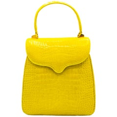 Crazy Fun Lemon Crocodile Lana Marks Handbag