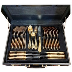 CRC Flatware Solingen, Germany Stainless Steel 24 Karat Gold-Plated