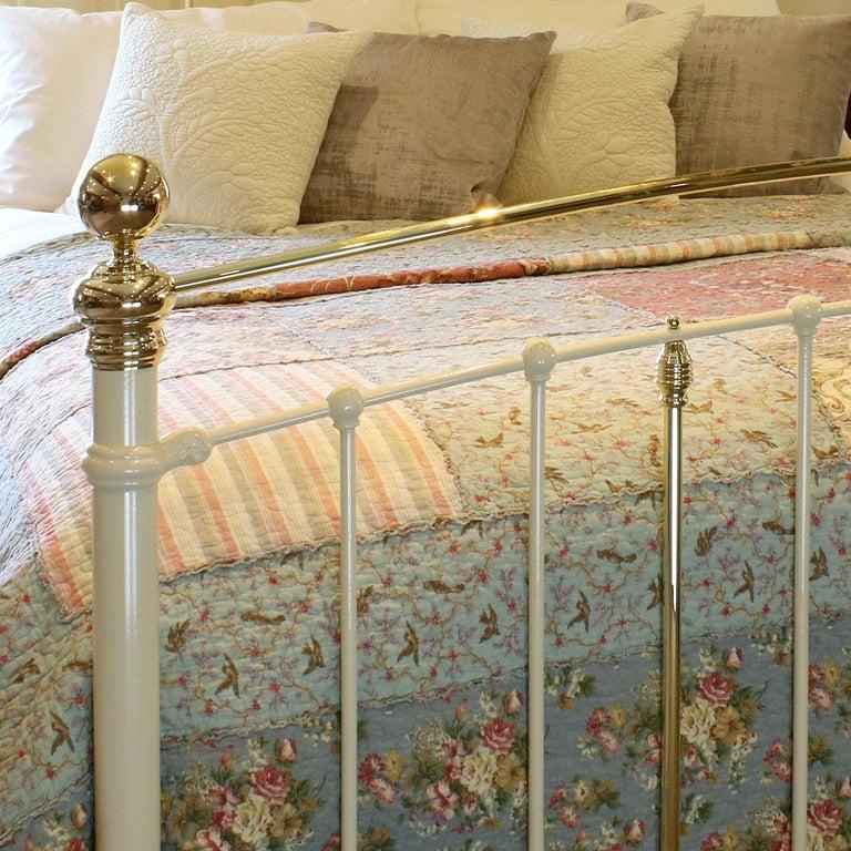 European Cream Antique Bed MK199 For Sale