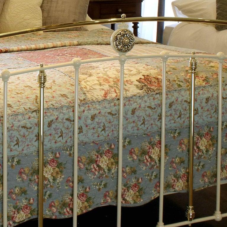 Cast Cream Antique Bed MK199 For Sale