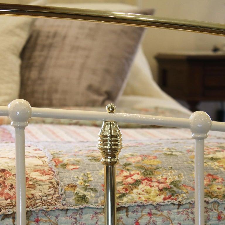 19th Century Cream Antique Bed MK199 For Sale