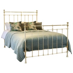 Cream Brass and Iron Antique Bed MK221
