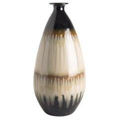 Cream, Brown, Black Drip Glaze Vase, China, Contemporary