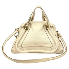 Cream Chloé Medium Paraty Satchel Bag