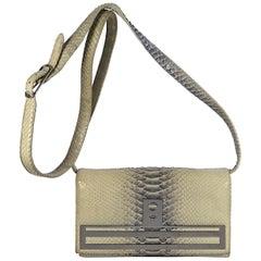 Hayward Cream Leather Snakeskin Shoulder Bag
