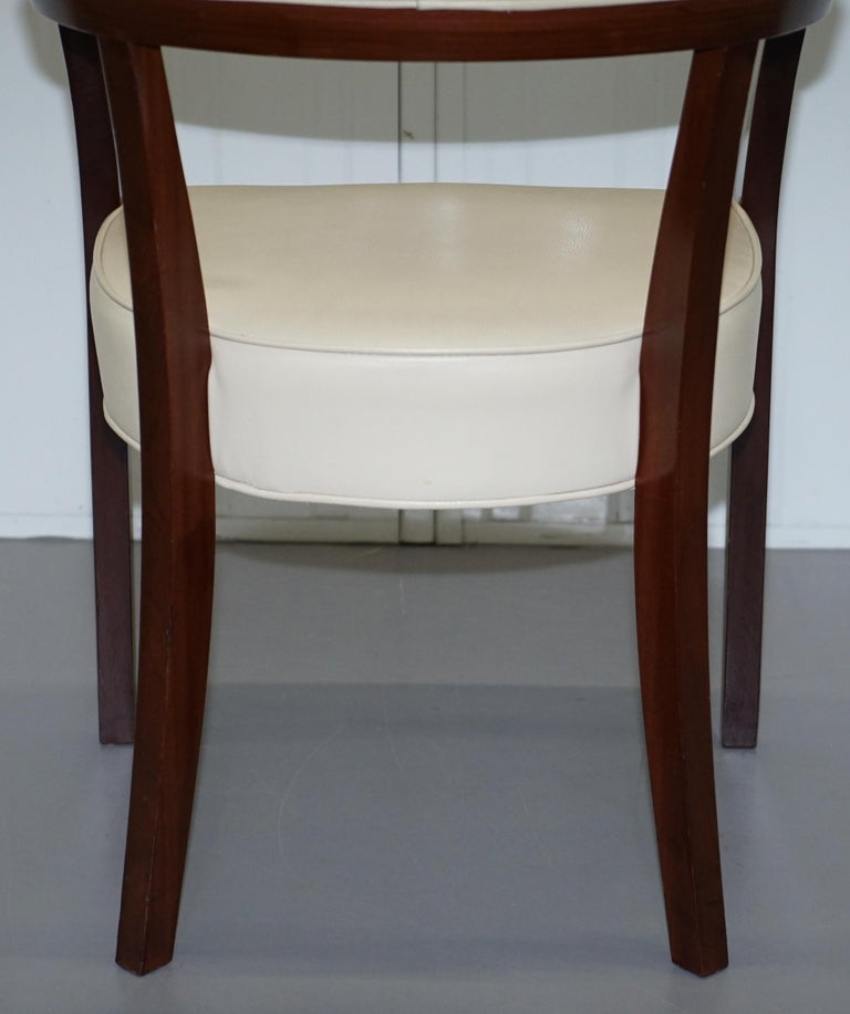 Cream Leather Driade Neoz Armchair by Philippe Starck Desk ...