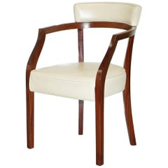 Cream Leather Driade Neoz Armchair by Philippe Starck Desk Office Seat