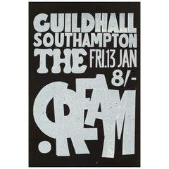Cream Original Vintage UK Concert Poster, 1967