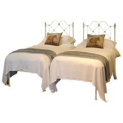 Cream Platform Twin Beds MPS31