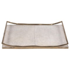 Cream Shagreen Tray by R&Y Augousti