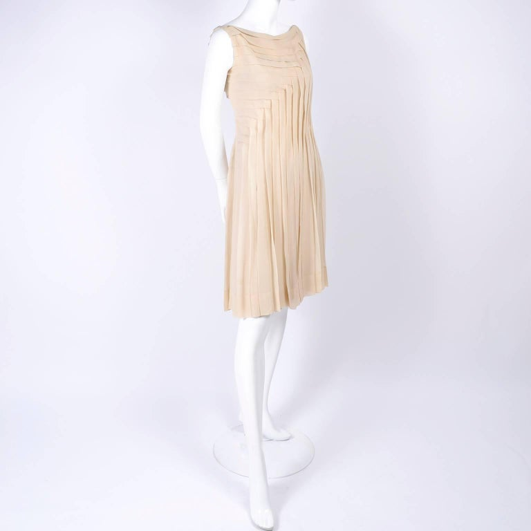Silk Couture Vintage Designer Dress with Asymmetrical ...