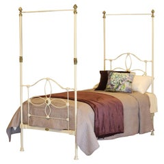 Cream Victorian Four Poster Single Bed MS47