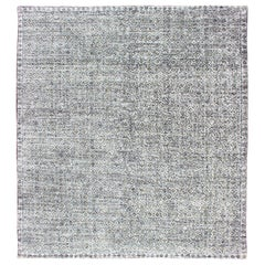 Creams, Ivory, Cream, and Charcoal Modern Distressed Rug