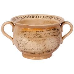 Creamware Chamber Pot, England, circa 1830