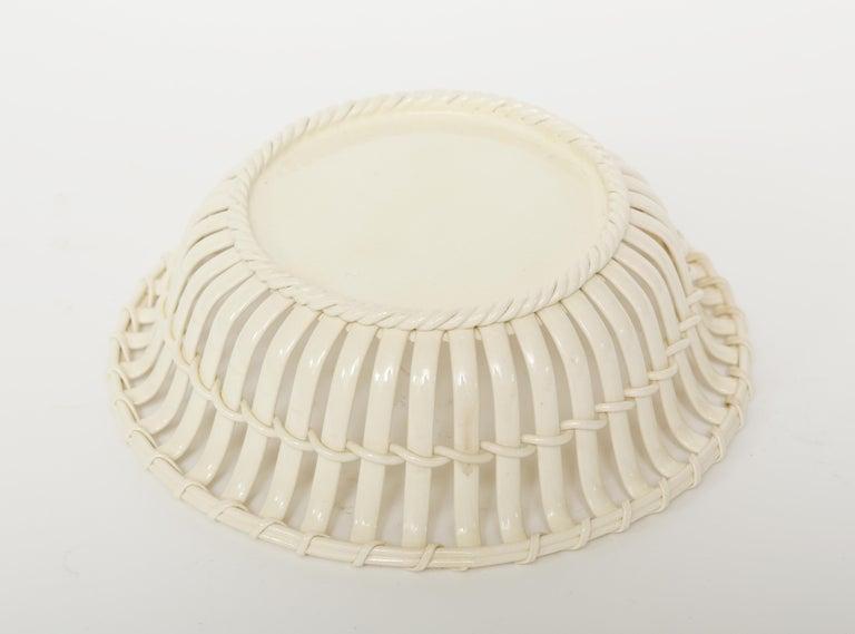 Georgian  Wedgwood Period Creamware Chestnut Basket For Sale