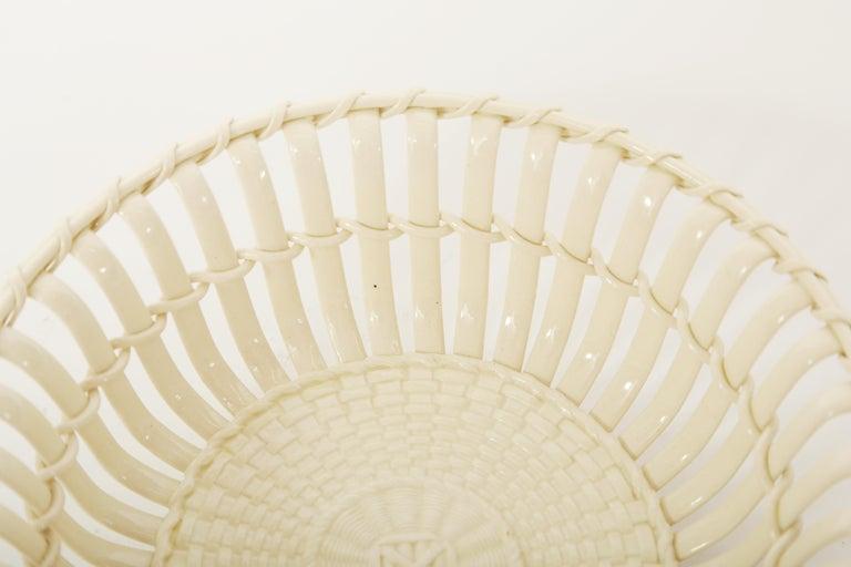 English  Wedgwood Period Creamware Chestnut Basket For Sale