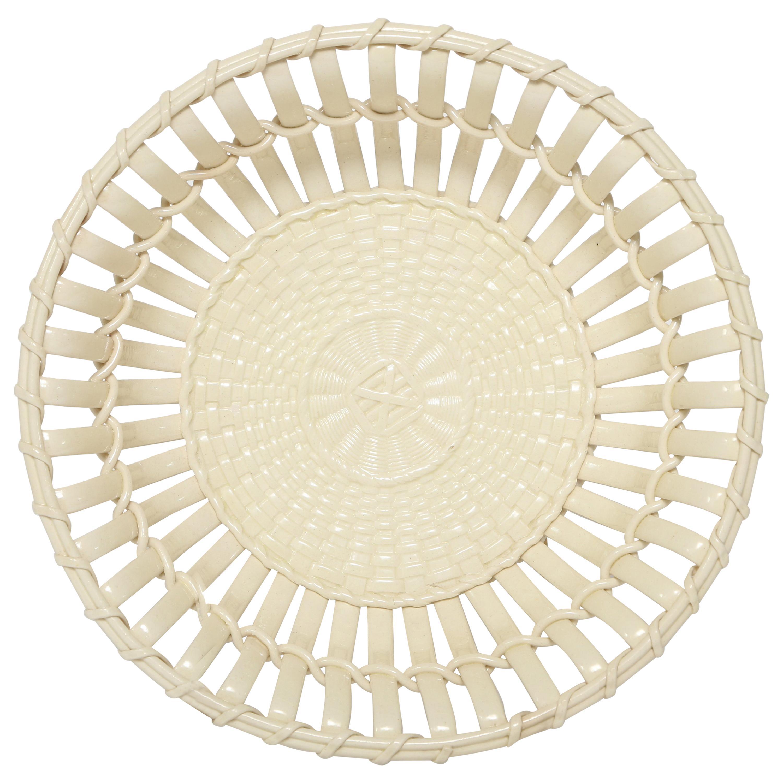 Creamware Chestnut Basket by Wedgwood