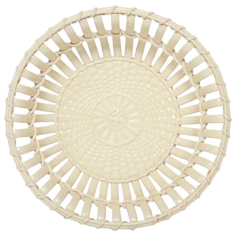 Wedgwood Period Creamware Chestnut Basket For Sale