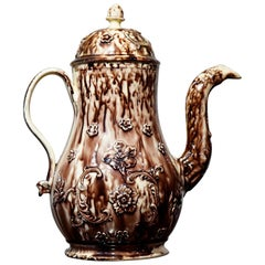 Creamware Coffee Pot, Whieldon Tortoiseshell Glaze, Zorensky Collection