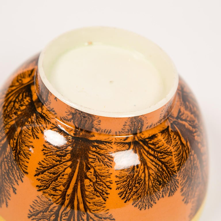 Creamware Mochaware Bowl Decorated with Trees circa 1800 For Sale 6
