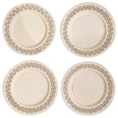 Creamware Openwork Four Dessert Plates