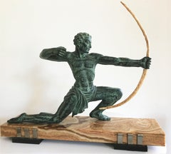 Bogenschütze (Archer) - Tin, Marble, Fish Bone, Archaic, Classic, Sculpture