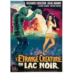 Creature from the Black Lagoon R1962 French Grande Film Poster, Belinsky