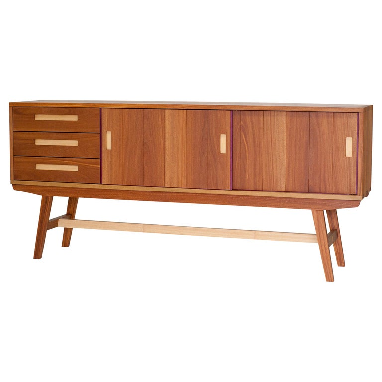 Credenza Buffet Handcrafted in Brazilian Hardwood For Sale