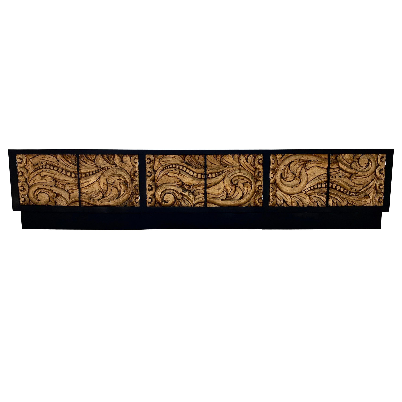 Credenza Carved Gold Leaf Front