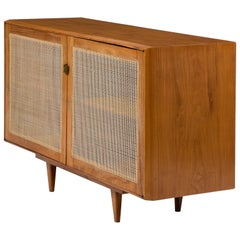 Credenza in Caviona Wood with Cane Front by Martin Eisler for Forma, 1960