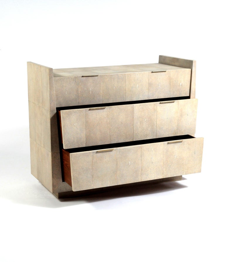 Credenza in Parchment and Bronze-Patina Brass by R&Y Augousti For Sale 3