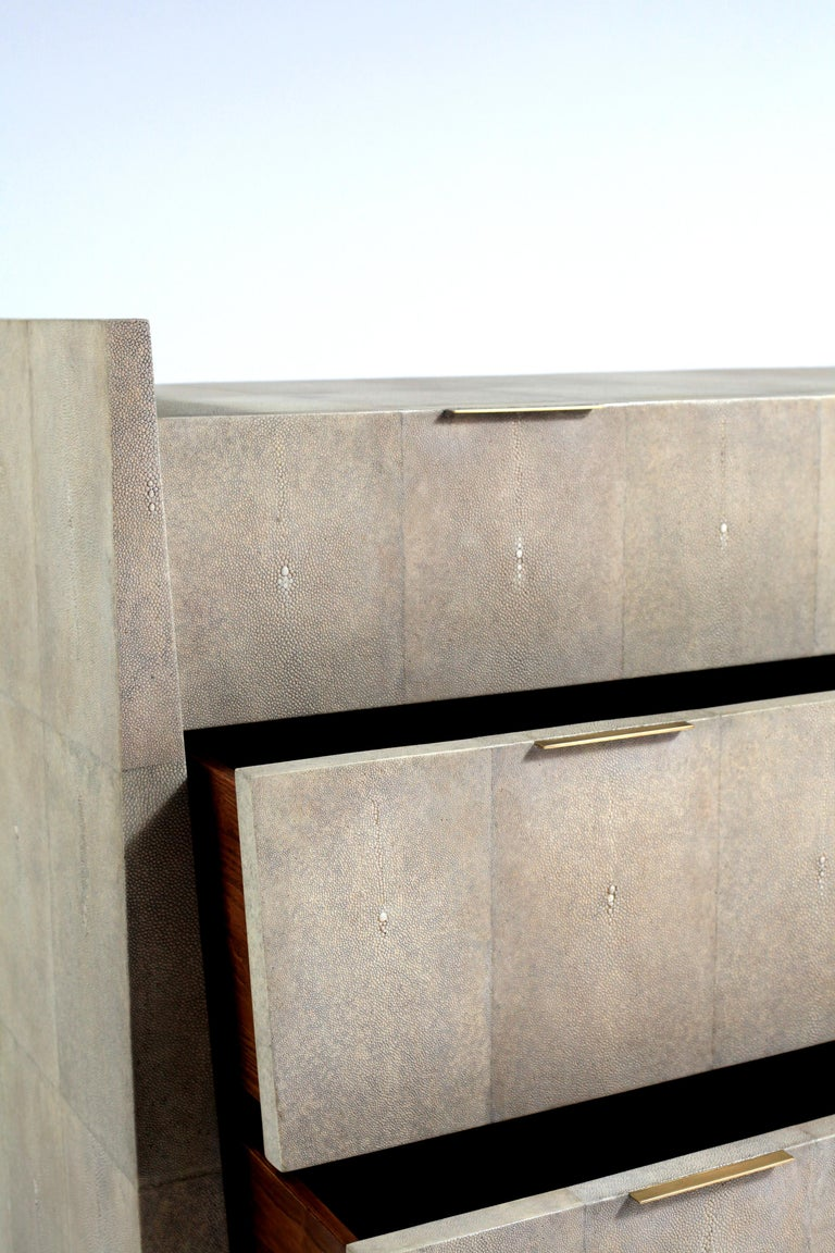 Credenza in Parchment and Bronze-Patina Brass by R&Y Augousti For Sale 5