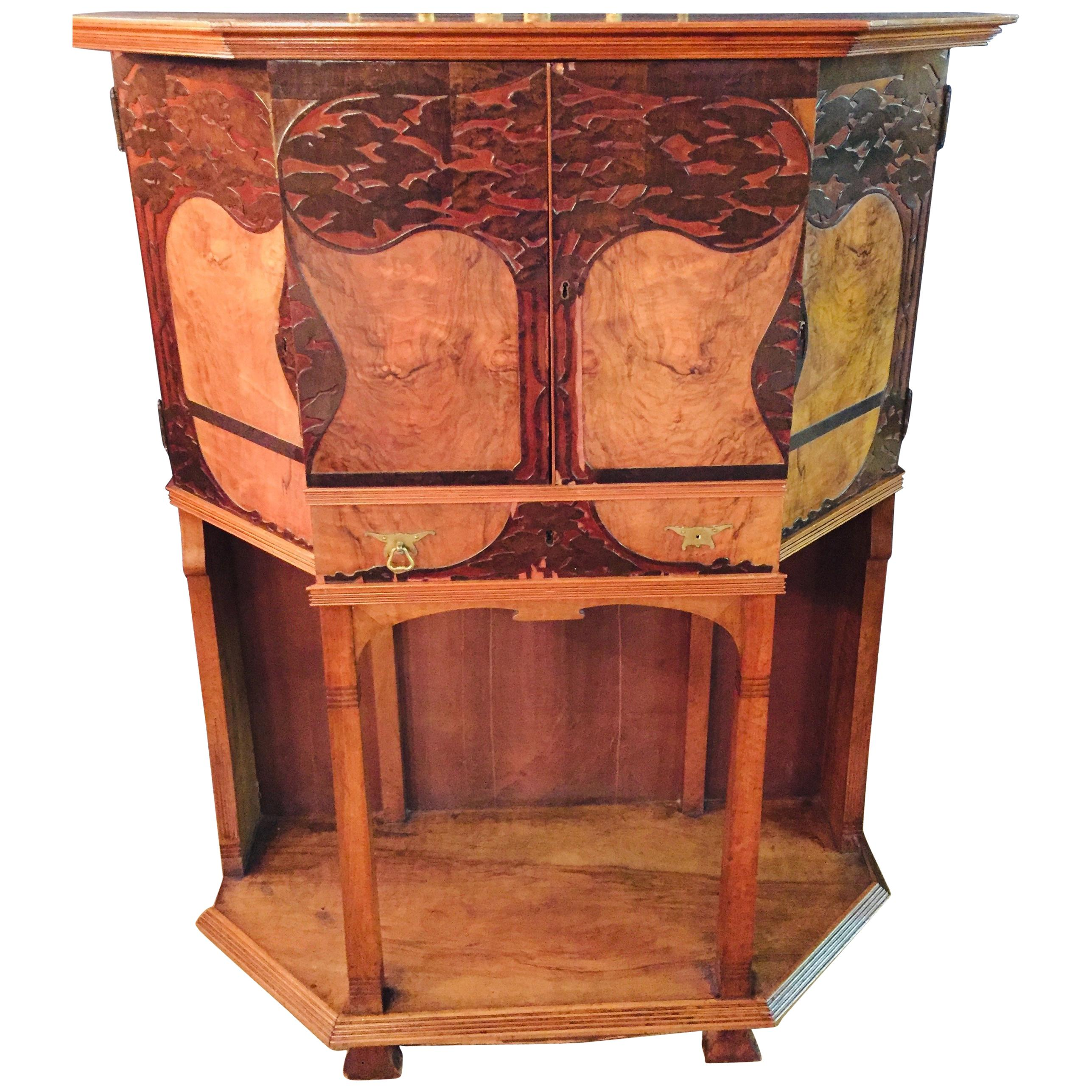 Credenza Sideboard Art Nouveau Art Deco Buffet Rare to Find France