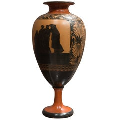 Credited Giustiniani Large Redware Neoclassical Terracotta Vase, 1840