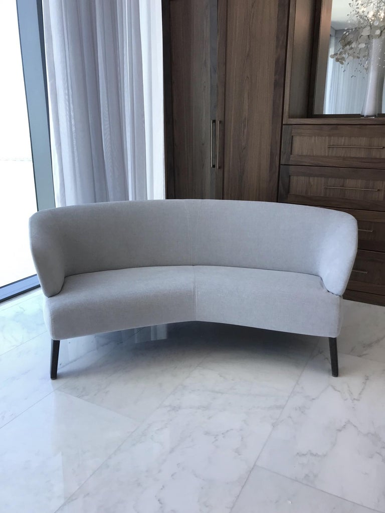 Creed Curved Loveseat Designed by Minotti, Italy For Sale 6
