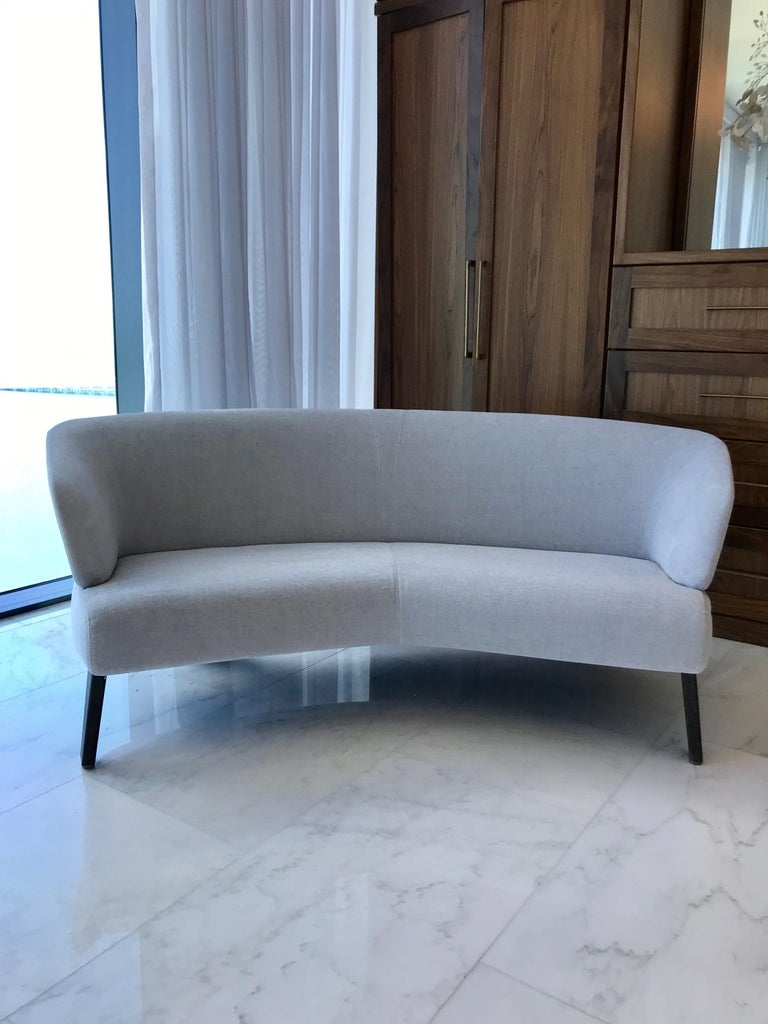 Modern Creed Curved Loveseat Designed by Minotti, Italy For Sale