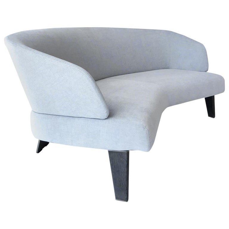 Creed Curved Loveseat Designed by Minotti, Italy For Sale
