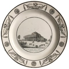 Creil Decorative Plate, Comedie a Bordeaux