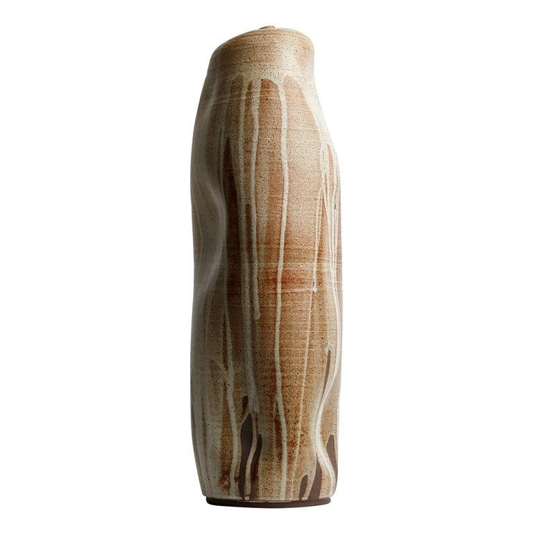 Creme Tall Handmade California Ceramic / Wabi Sabi Interior Sculpture For Sale