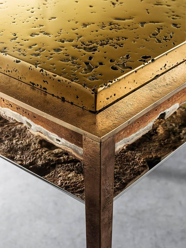 Cast Cremino Side Table Handcrafted by Gianluca Pacchioni For Sale