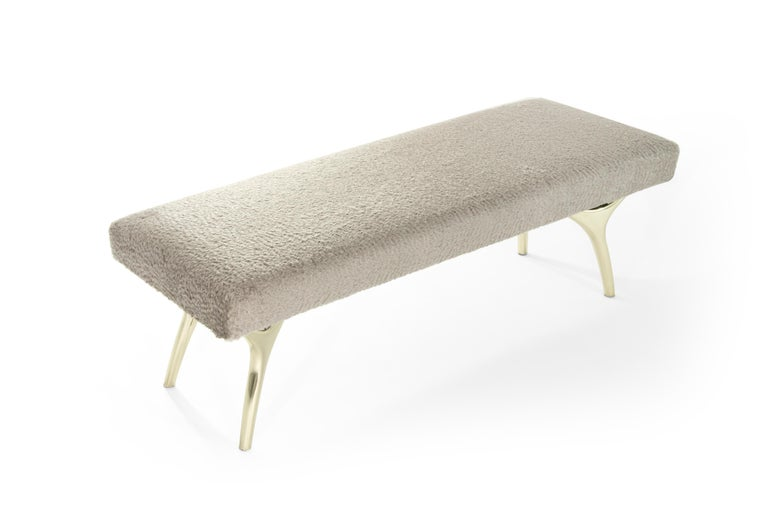 American Stamford Modern's Crescent Bench For Sale