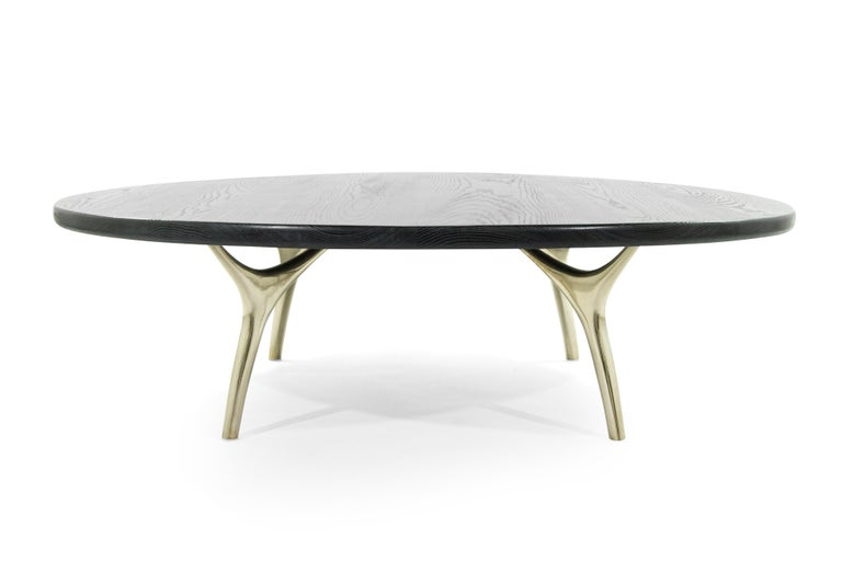 Mid-Century Modern Crescent Collection Coffee Table For Sale