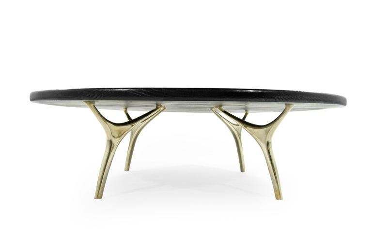 Contemporary Crescent Collection Coffee Table For Sale