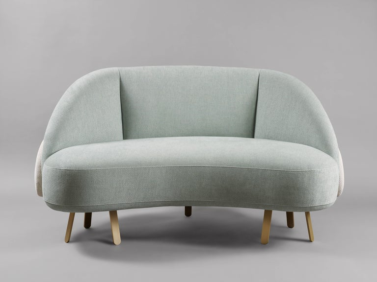 French 'Crescent Loveseat' by Charles Kalpakian  For Sale